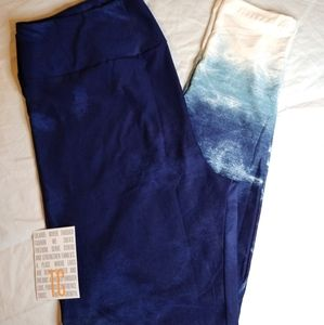 NEW TC LULAROE LEGGINGS ~ BLUE + WHITE FADE